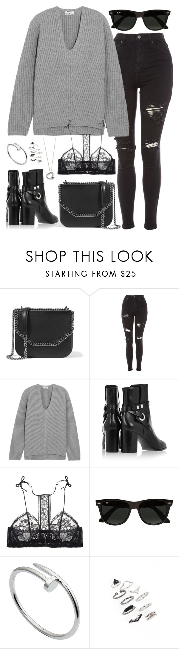 """""""Untitled #3011"""" by briarachele on Polyvore featuring STELLA McCARTNEY, Topshop, Acne Studios, Isabel Marant, La Perla, Ray-Ban, Elsa Peretti and Cartier"""