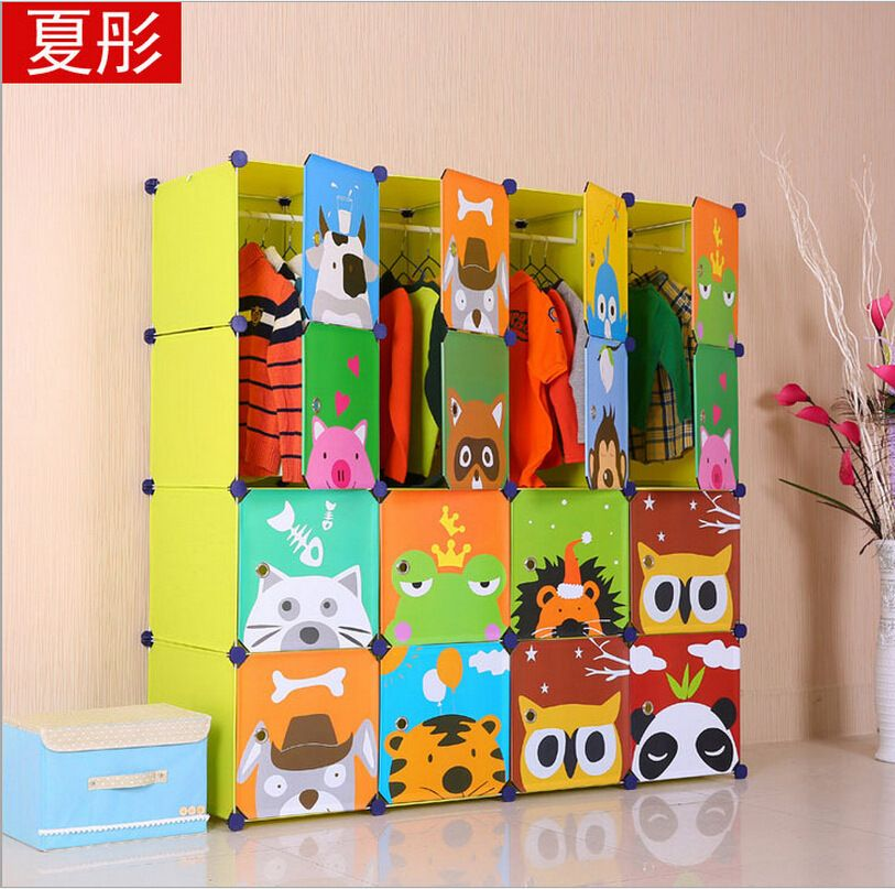 Find More Other Plastic Furniture Information About 16 Cubes Childrenu0027s  Cartoon Wardrobe Closet Storage Cabinet Clothing