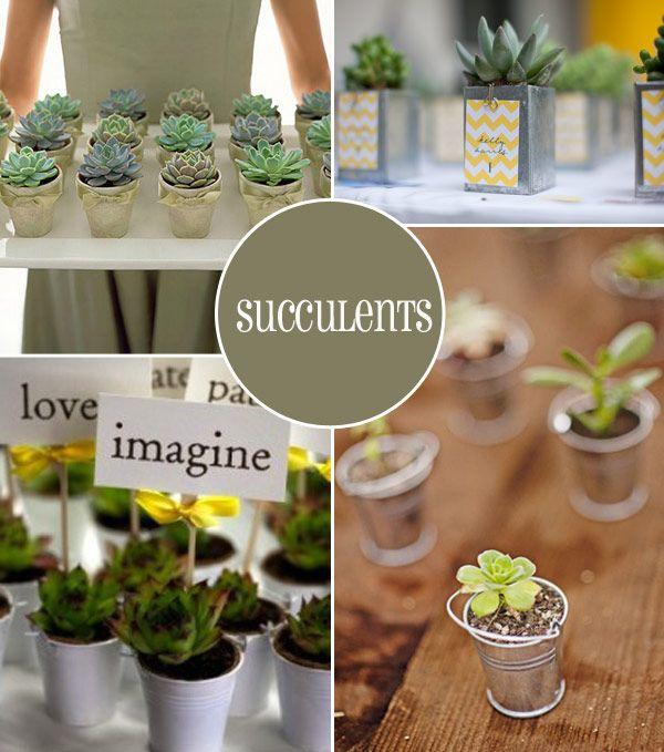 Grow Your Own Wedding Flowers: Green Wedding Favour Ideas,