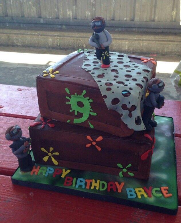 Paintball mask cake Birthday Party Ideas Pinterest Paintball