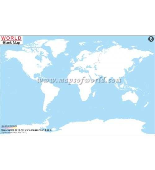 Blank World Map | Buy Blank Map of the World | World Map | Blank ...