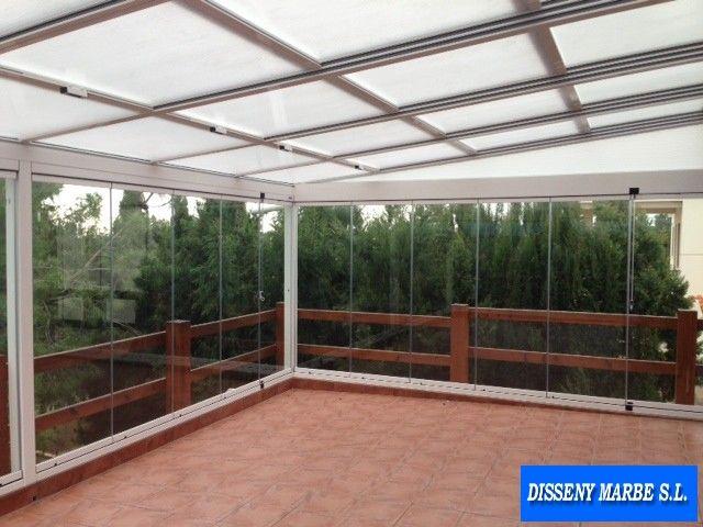 Techo aluminio movil con policarbonato y plegables de cristal techos aluminio pinterest - Techos de aluminio para patios ...