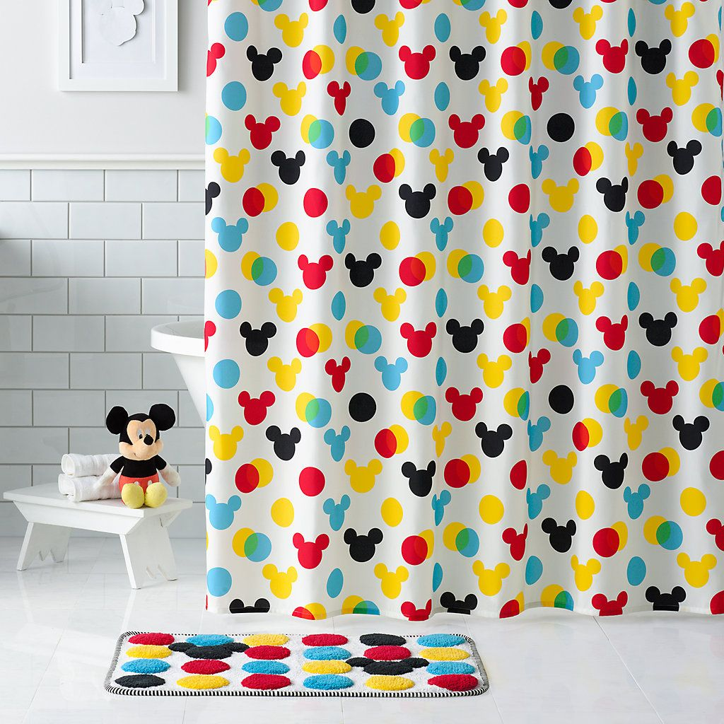 Disney S Mickey Mouse Polka Dot Fabric Shower Curtain By Jumping Beans