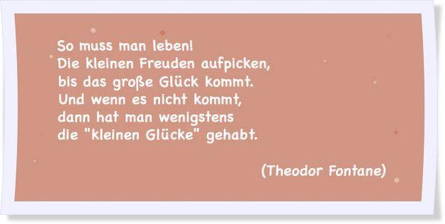 Ach Glück! Die schönsten Sprüche & Zitate   Sprüche zum ...