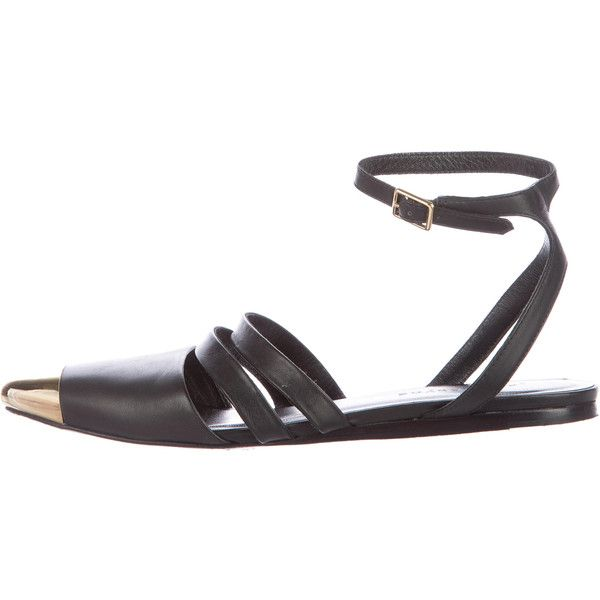 Jenni Kayne Leather Ankle-Strap Flats