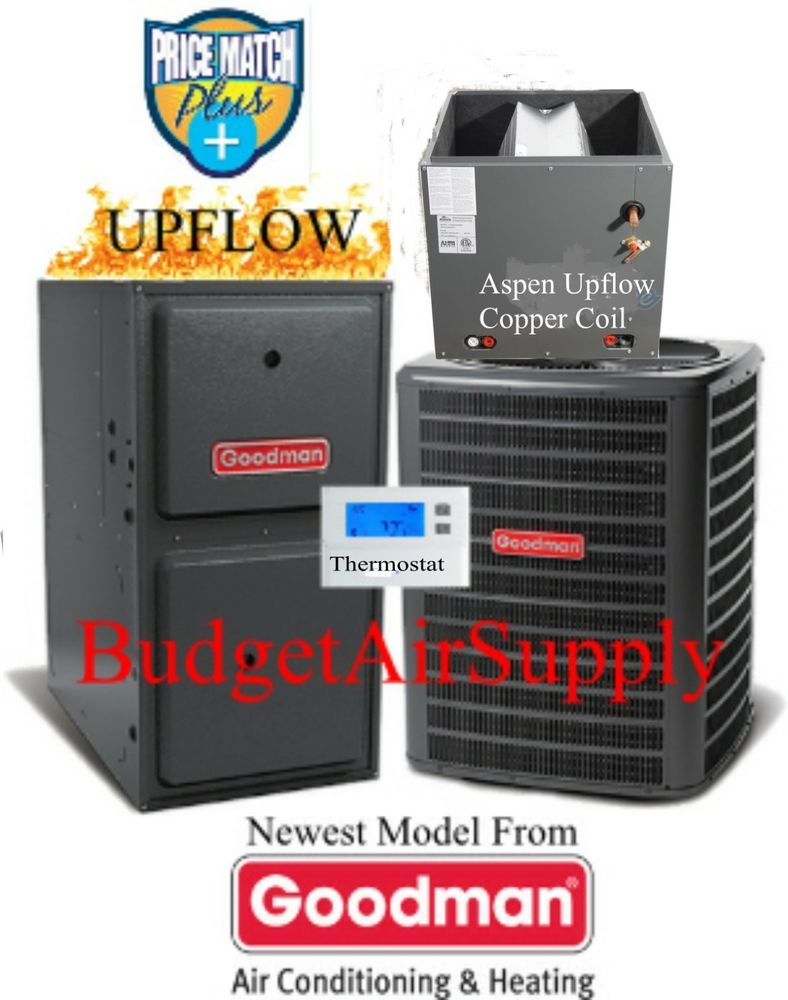 3 Ton Goodman Aspen 14 Seer 95 96 80k Btu Gas Furnace Upflow Gmss960804cn Gas Furnace Natural Gas Furnace Furnace