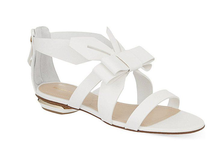 bceb0832259f Pin for Later  The Ultimate Guide to Flat Wedding Shoes Nicholas Kirkwood  Origami Flat Sandals Nicholas Kirkwood Origami Flat Sandals (£625)