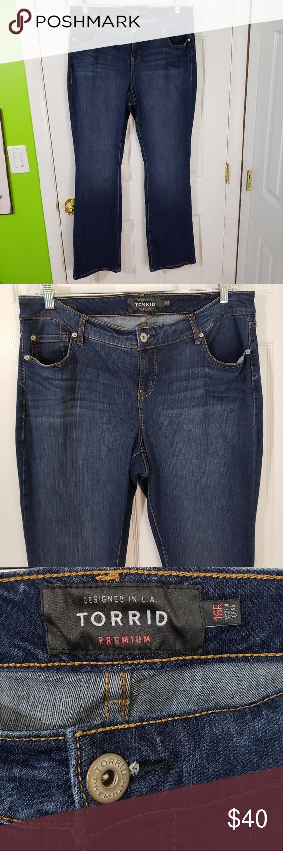 ➕Torrid Premium Denim Barely Boot Jeans
