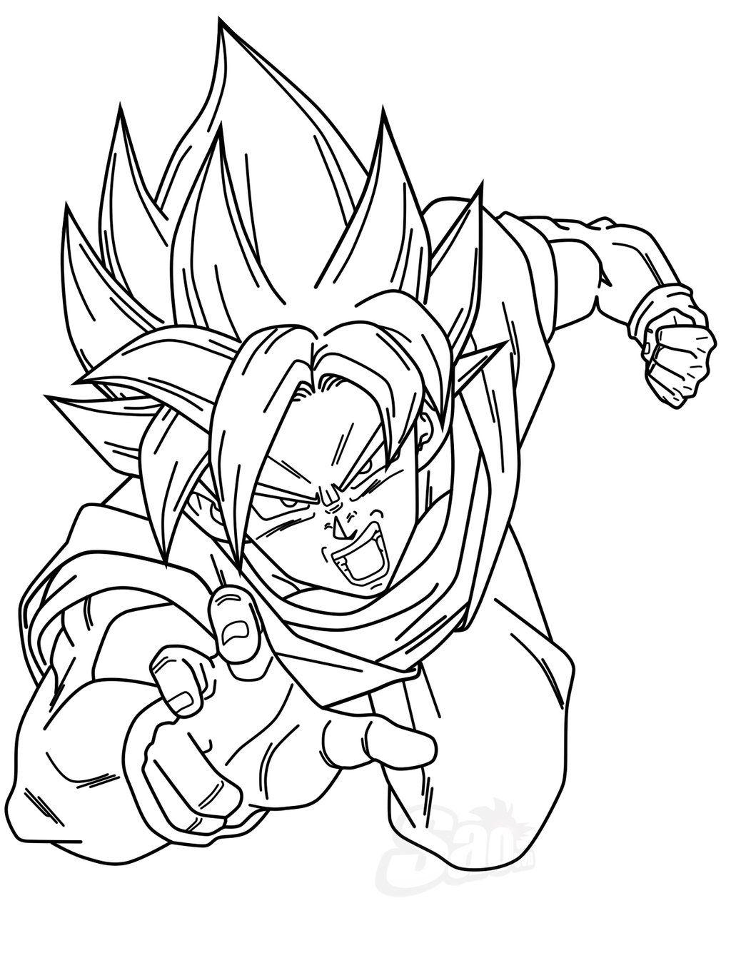 Dragon Ball Anime Goku And Gohan Coloring Pages For Kids Printable Free Dragon Coloring Page Cute Dragons Dragon Ball Z