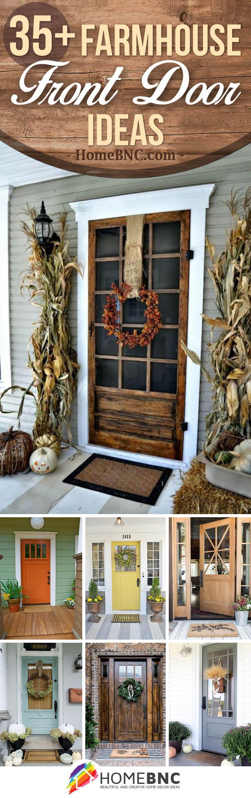 37 Gorgeous Farmhouse Front Door Ideas To Give Your Home A Makeover Farmhouse Front Door Farmhouse Front Farmhouse Decor