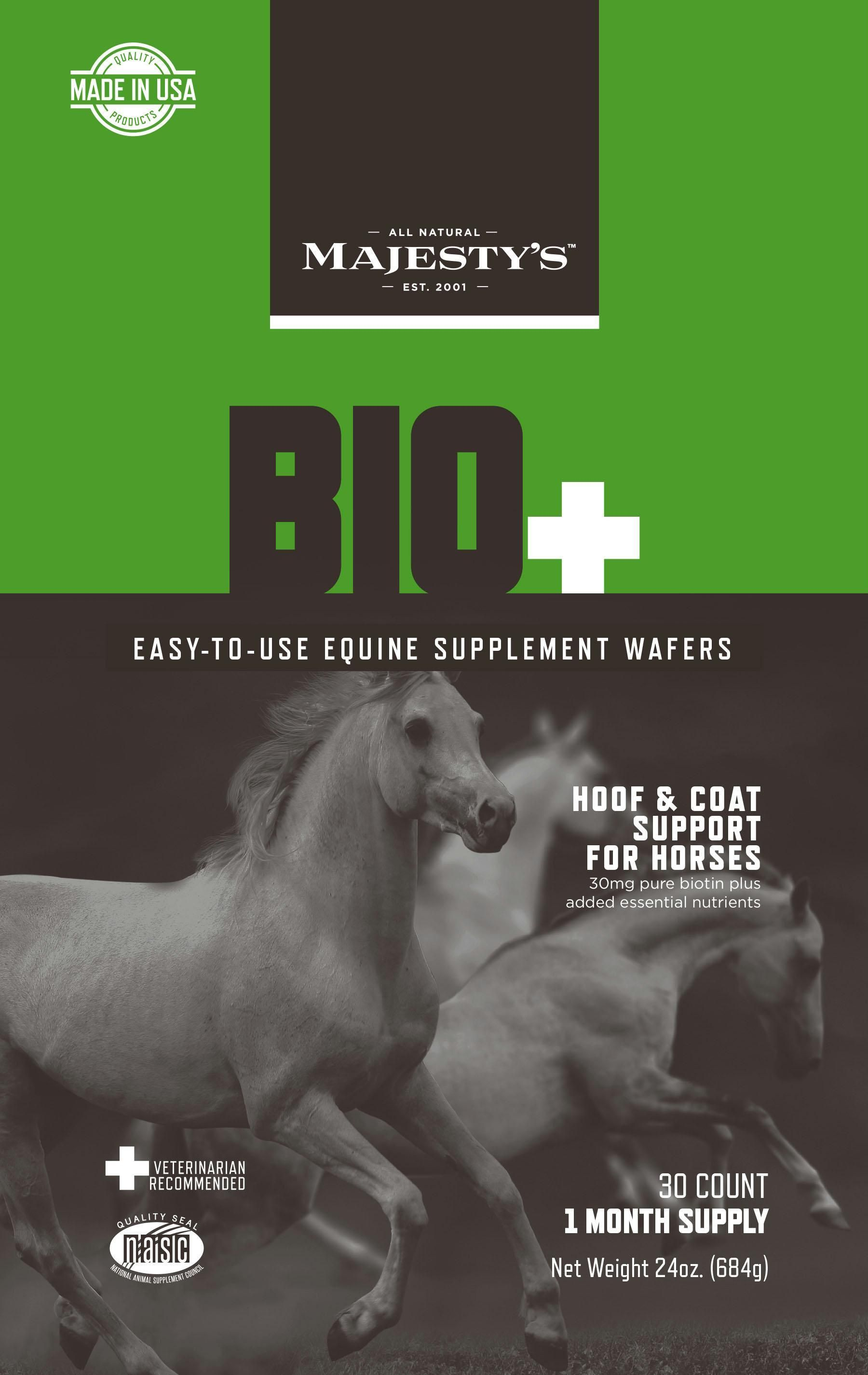 Majesty's Biotin Plus Equine Supplement Wafers Equine