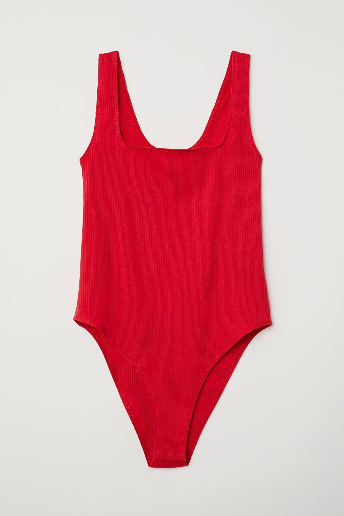 bceb3e5610 Sleeveless bodysuit in ribbed jersey with a square neckline. Snap fasteners  at gusset.