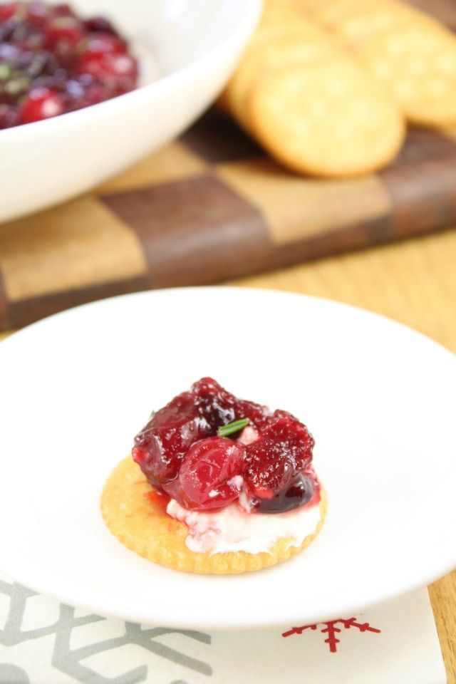 Quick and Easy Holiday Appetizer! Cranberry Dip from Miss in the