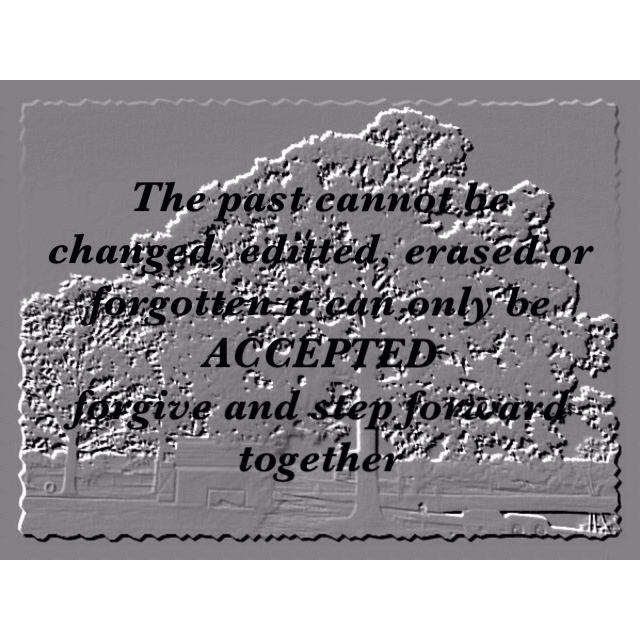 Work hard to accept change