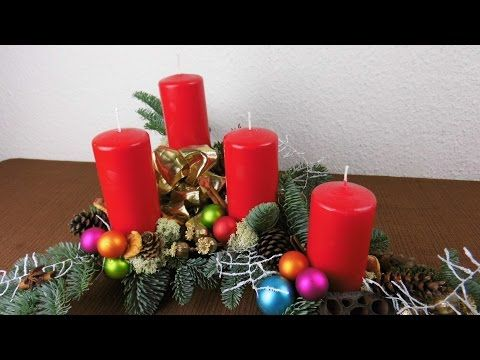 weihnachtsdekoration adventsgesteck selber machen flora floristik videos diy. Black Bedroom Furniture Sets. Home Design Ideas