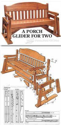 porch glider plans outdoor furniture plans projects rh pinterest com