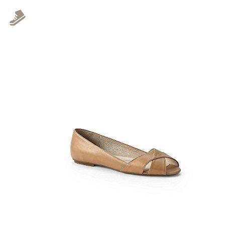62ca2749371c Lands' End Women's Open Toe Flat Shoes, 7, Classic Tan - Lands end sneakers  for women (*Amazon Partner-Link)