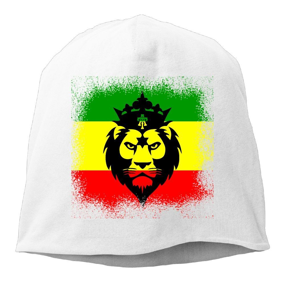 Unisex Knit Beanie Hat Rasta Flag Lion/  Warm Winter Skull Caps