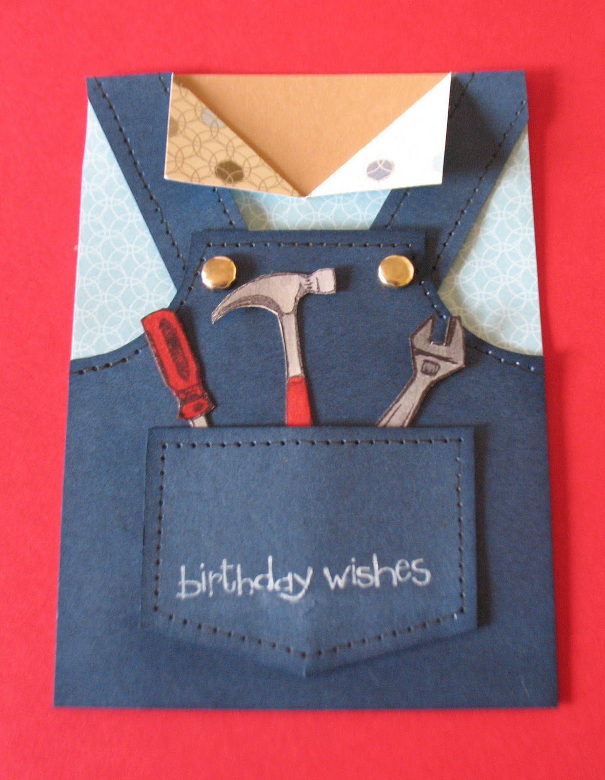 Tool man birthday card tutorial debzhouse stamping card debzhouse stampin up ideas news special offers tool man card would make a nice fathers day card too birthday card bookmarktalkfo Image collections