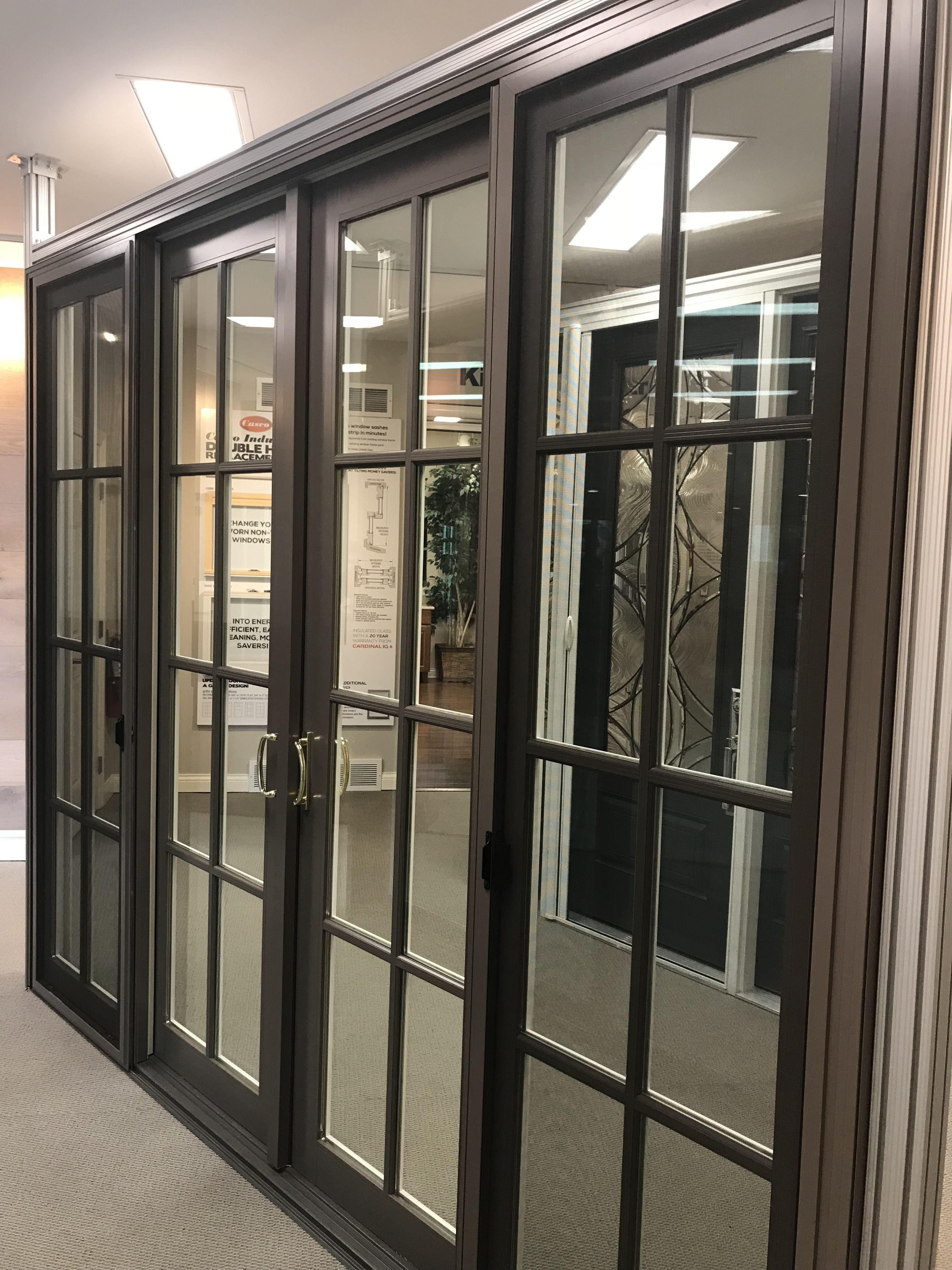 Casco Aluminum Clad Bi Parting Sliding Patio Door Manufactured In South Elgin Il Patio Doors Sliding Patio Doors Exterior Doors