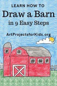 Draw A Barn Barn Drawing Barn Art Drawings