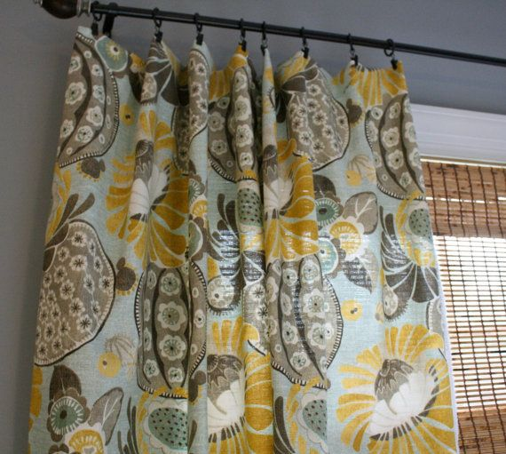 Grey And Yellow Window Curtains Modification Is Very Pretty : Lovely  Patterns And Colour Combinations Ideas Of Modern Grey And Yellow Window  Curtains