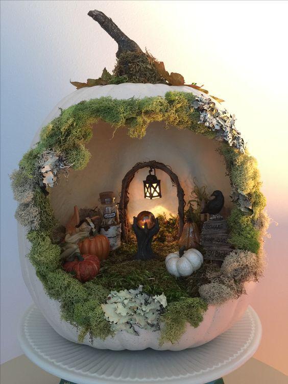 Easy Halloween Decorations Party DIY Decor Ideas - Pumpkins #dioramaideas