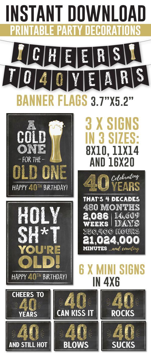 60th Birthday Printable Sign Pack 60th Birthday Digital Etsy Artofit
