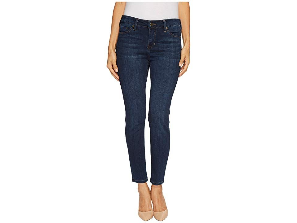 Liverpool Petite Abby Skinny in Silky Soft Stretch Denim in San Andreas Dar San Andreas Dar Womens Jeans Never go wrong with Liverpool denim The Abby jean features a midr...