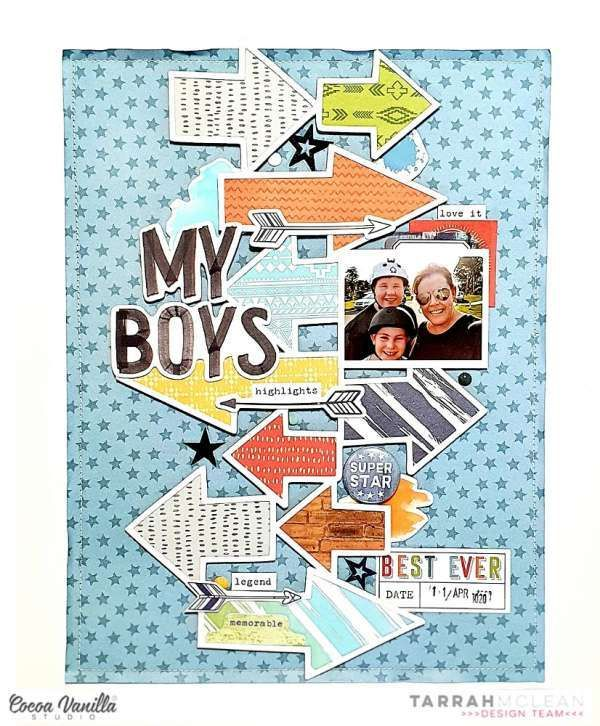 Boys Scrapbook Layout