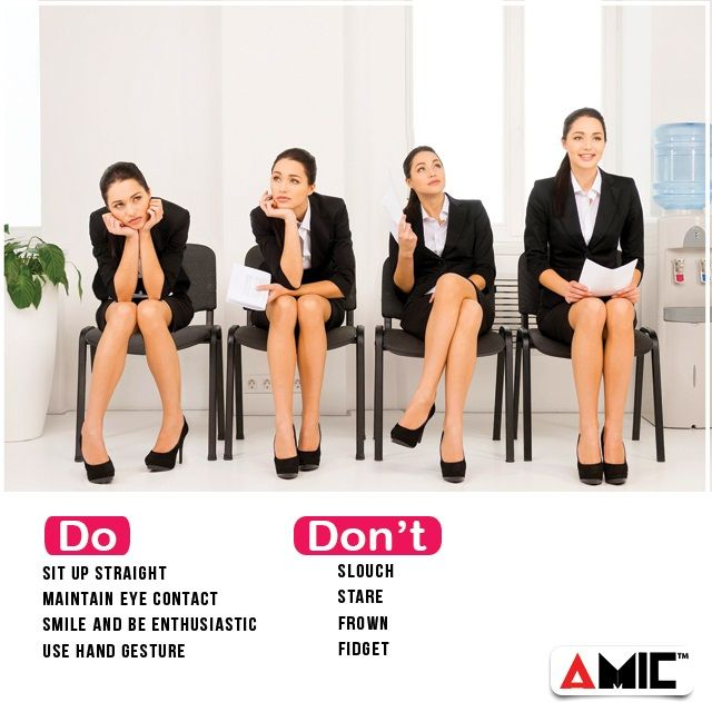 Sit up straight maintain eye contact smile & be enthusiastic use