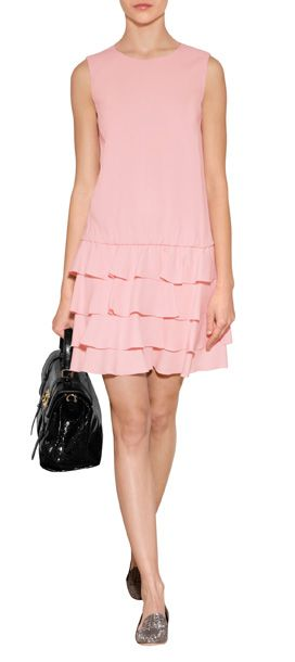 Frothy layers of tiered ruffles give this pale pink dress from RED Valentino an ultra-feminine finish #Stylebop