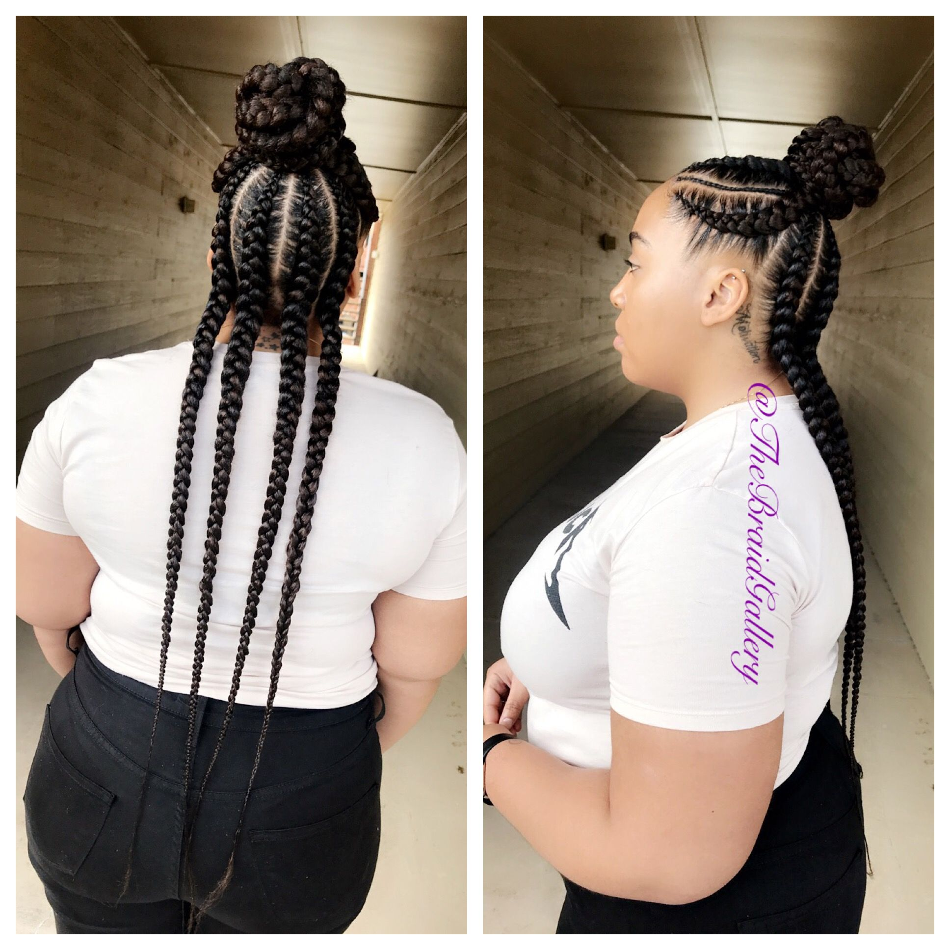 Large Feed In Braids