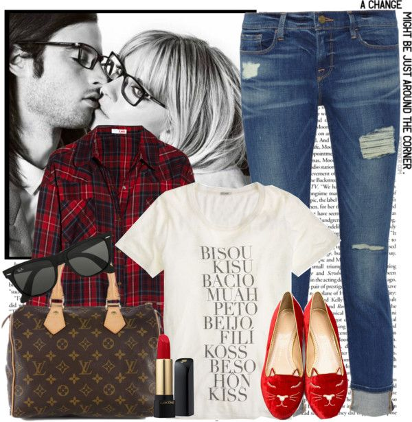"""Plaid - Fall in Love ♡"" by karineminzonwilson on Polyvore"