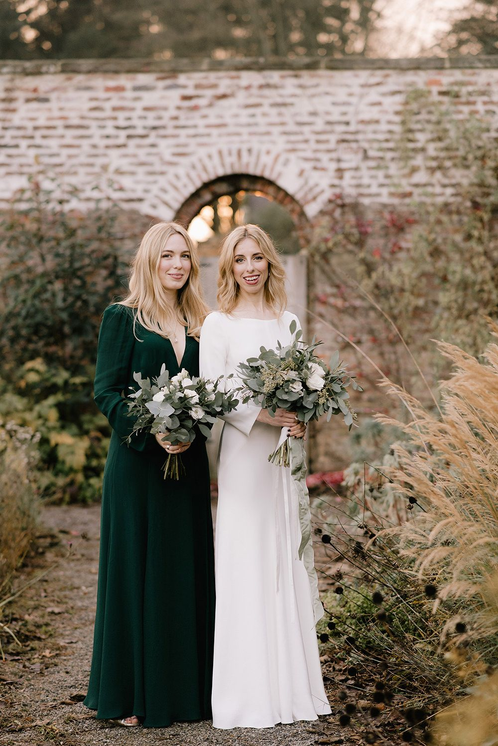 Emerald Green Bridesmaid Dress For A Winter Wedding At Middleton