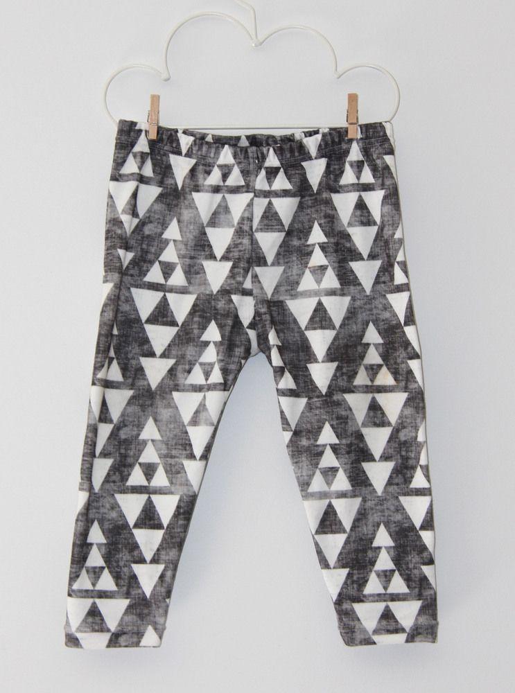Organic distressed triangle leggings