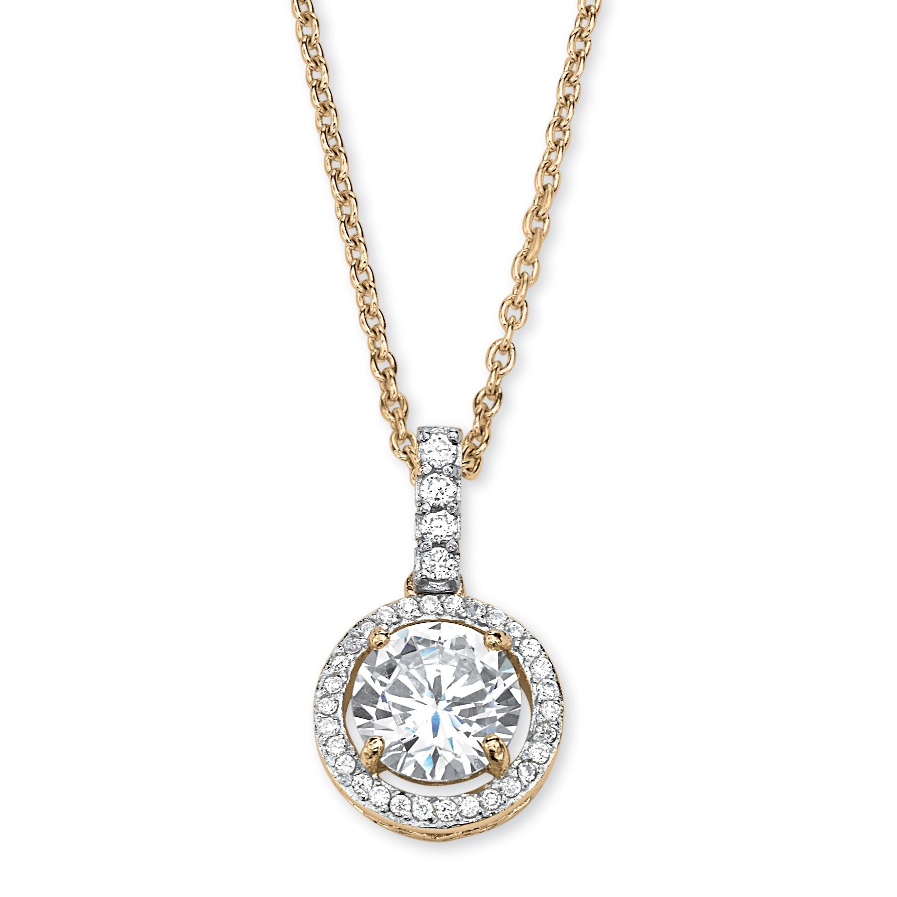 Glowing with a central cubic zirconia stone encircled by ...
