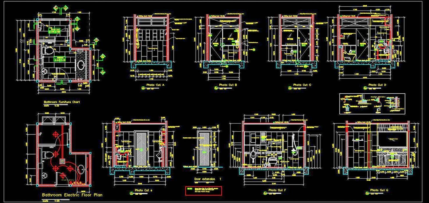 Toilet Detail Drawing Autocad DWG File Download in 7  Autocad