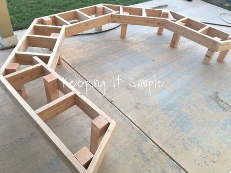 Photo of DIY Fire Pit Bench with Step by Step Insructions • Keeping it Simple