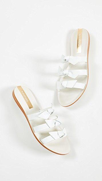 7ec9f7b06 kaanas white bow sandals