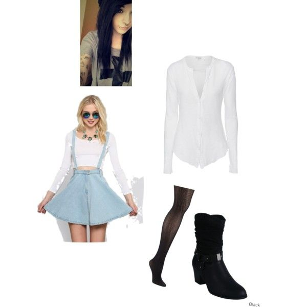 Untitled #382 by angelsdevildes on Polyvore featuring polyvore fashion style James Perse Ellen Tracy Reneeze