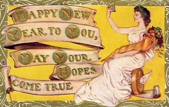 art nouveau new year