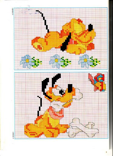 Disney baby pluto ossi disney pinterest punto croce for Schemi punto croce bambini disney