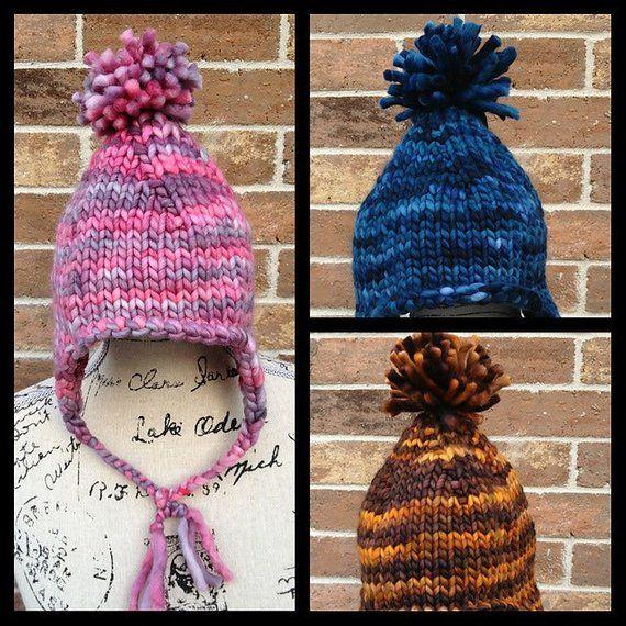 PATTERN Kids Earflap Hat Knitting Pattern Chunky Hat Craft ...