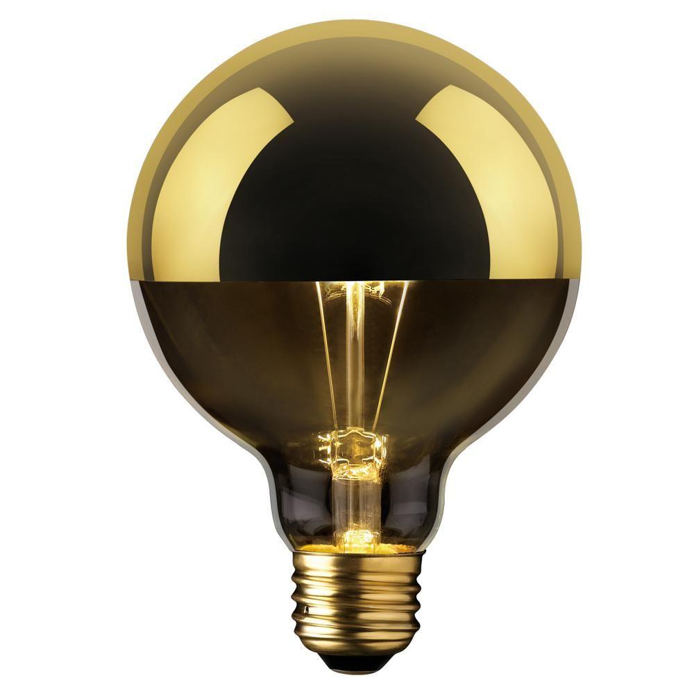 Globe Electric 40w Gold Designer Vintage Edison Oro Incandescent