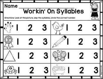 Freebie! WORKIN\' ON SYLLABLES   Word Work Ideas   Pinterest ...