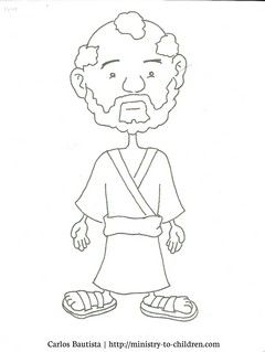 Peter Coloring Page (free printable cartoon figure