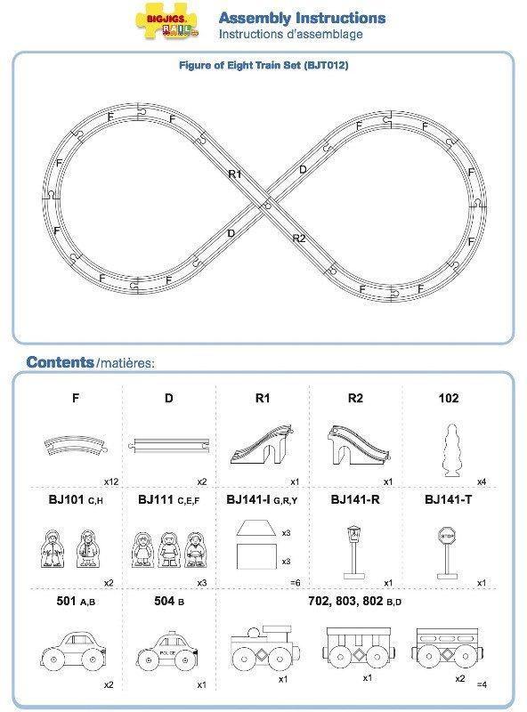 BJT012 - Figure of Eight Train Set Instructions Ô     babe - copy lionel trains coloring pages