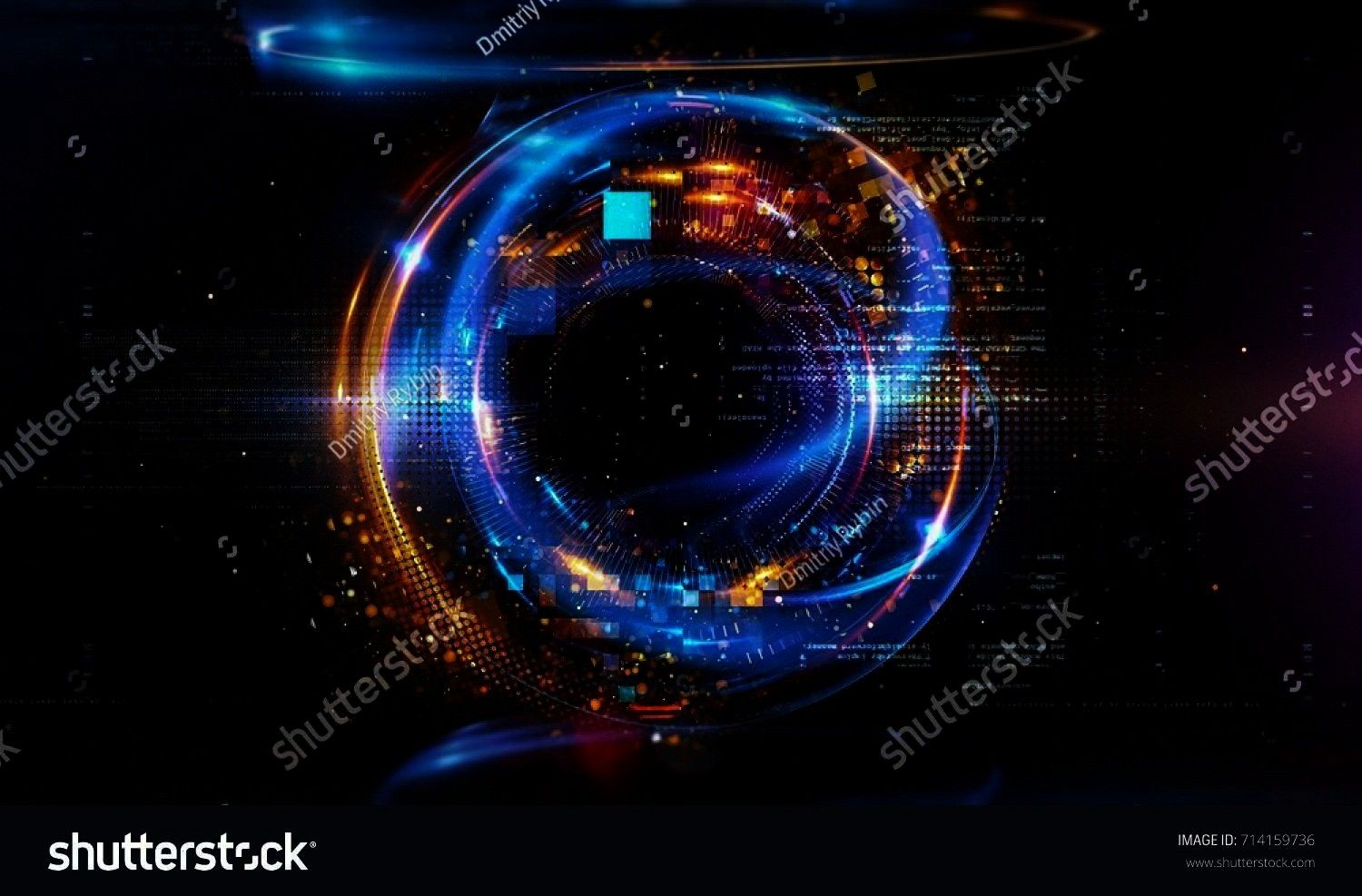 Floating Numbers HUD Background Matrix particles grid virtual reality Smart build Grid core Hardware quantum form Future technology Decoding dna 3d abstract tech backgrou...