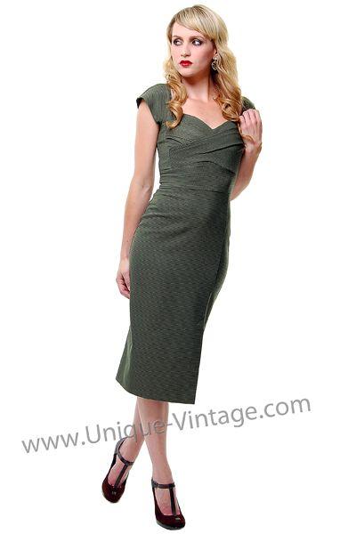 Unique Vintage Vintage Dresses 1940s Fashion Retro Fashion Outfits